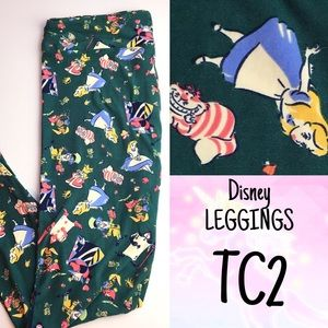 LuLaRoe Leggings TC2 DISNEY Alice in Wonderland